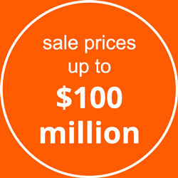 Sale Prices up to $100 Million